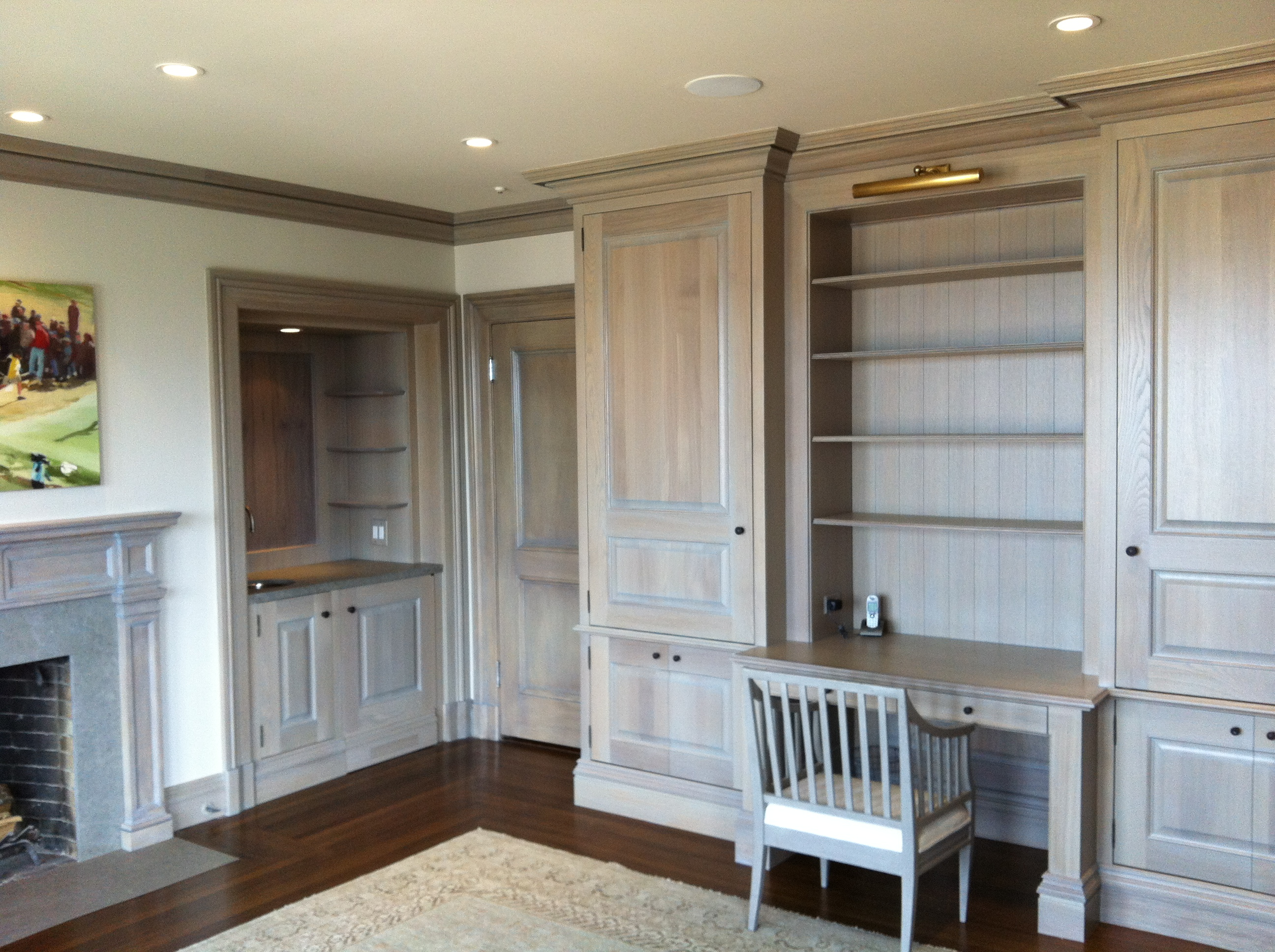 Custom White Oak Office Cabinetry