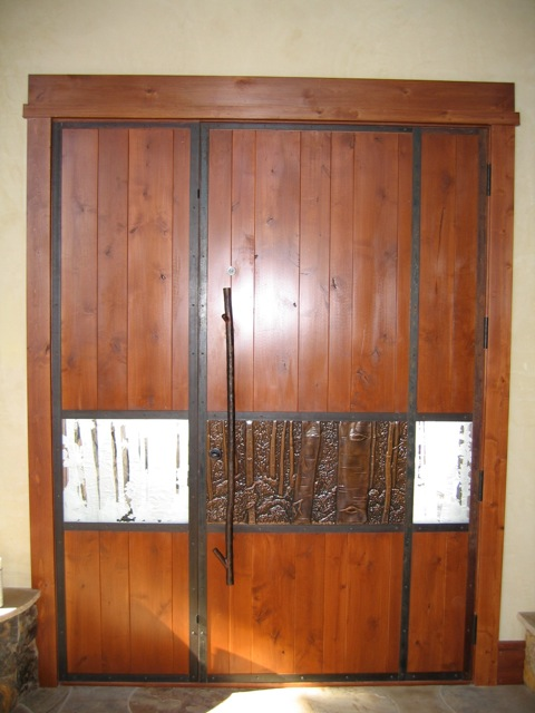 Custom Front Door, Aspen Colorado