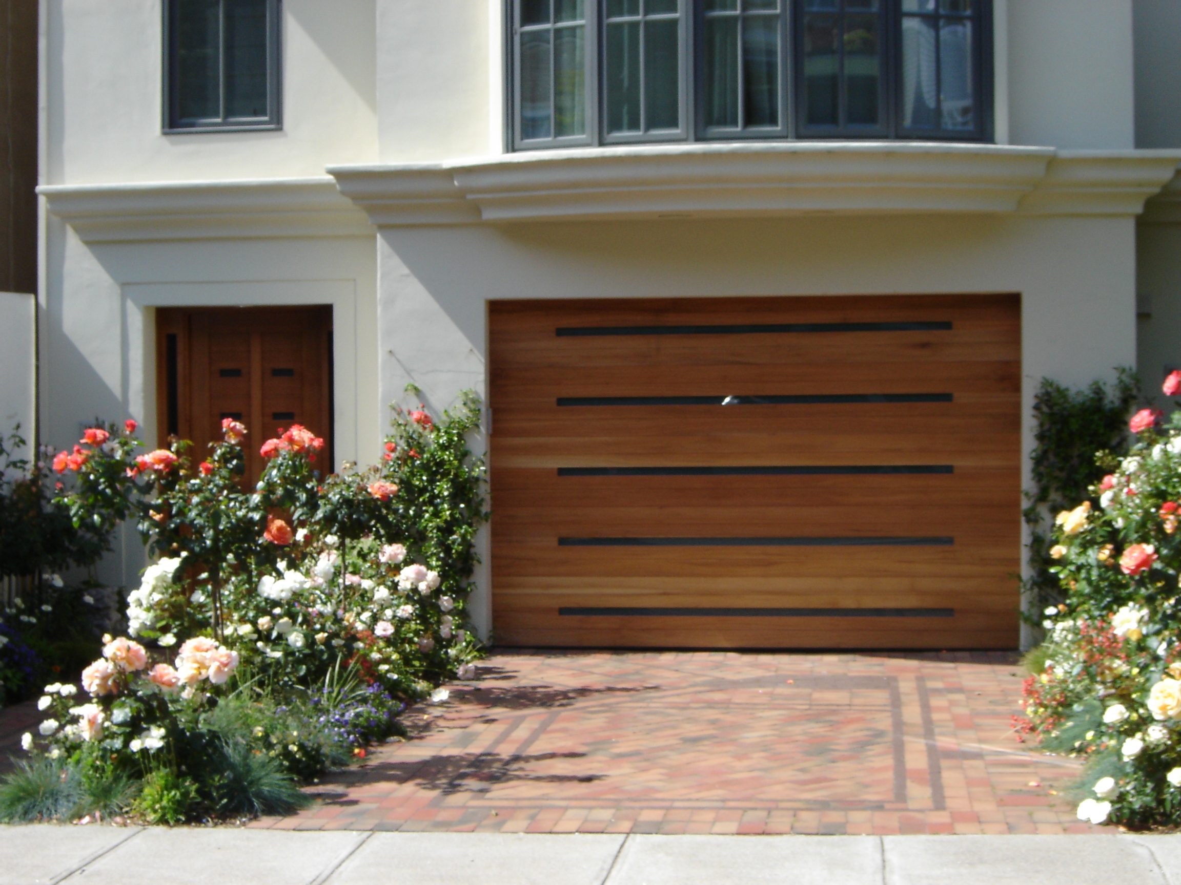 Walnut Garage And Front Door
