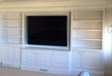 White Custom Media Wall