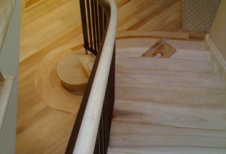 custom handrail san francisco pacific heights calif woodoworking