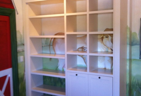 kids custom bookcase marin county