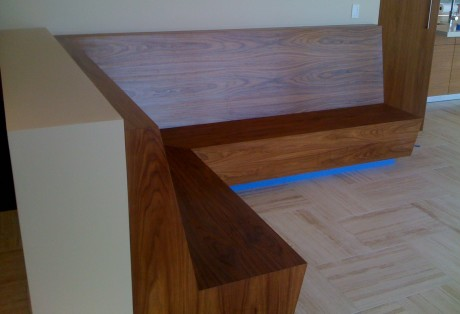 custom walnut booth tiburon california