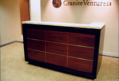 Reception Desk and Cabinet